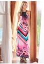 Front View Geometric Floral Print Maxi