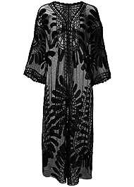 Front View Lace Kimono Cover-Up