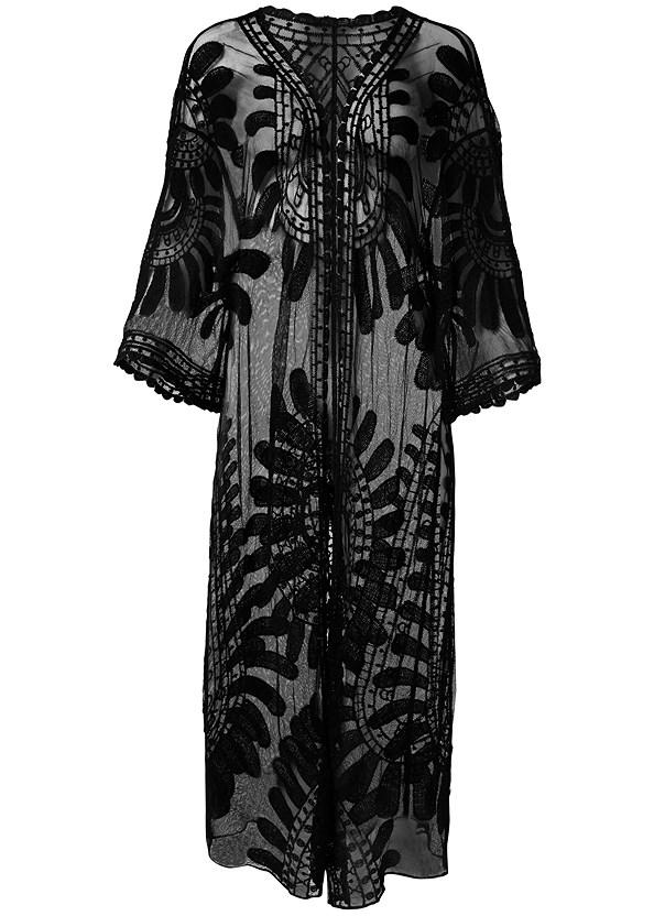 Lace Kimono Cover-Up,Woven Handbag