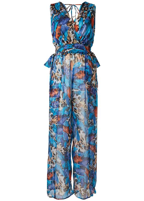 Alternate View Flowy Jumpsuit Cover-Up