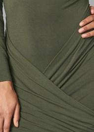 Alternate View Ruched Scoop Neck Dress