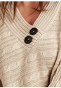 Alternate View Button Detail Wrap Sweater