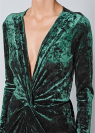 Alternate View Knot Detail Velvet Jumpsuit