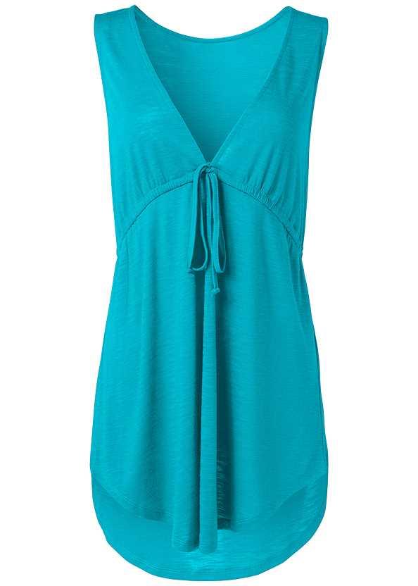 Deep V Cover-Up Beach Dress,Full Coverage Mid Rise Hipster Bikini Bottom,Leila High Waist Bottom