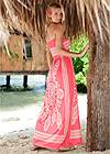 Back View Bandeau Maxi Dress Cover-Up