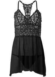 Ghost with background  view Lace And Mesh Babydoll