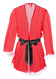 Ghost with background  view Santa Baby Sheer Robe