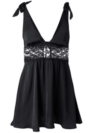 Ghost with background  view Lace Bow Detail Babydoll