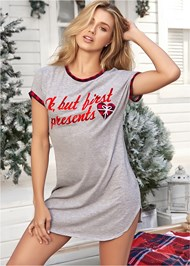 Front View Graphic Sleep Dress