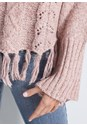 Alternate View Cable Knit Fringe Sweater