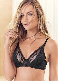unlined lace wire bra