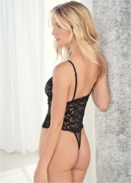 Back View Sheer Lace Bodysuit