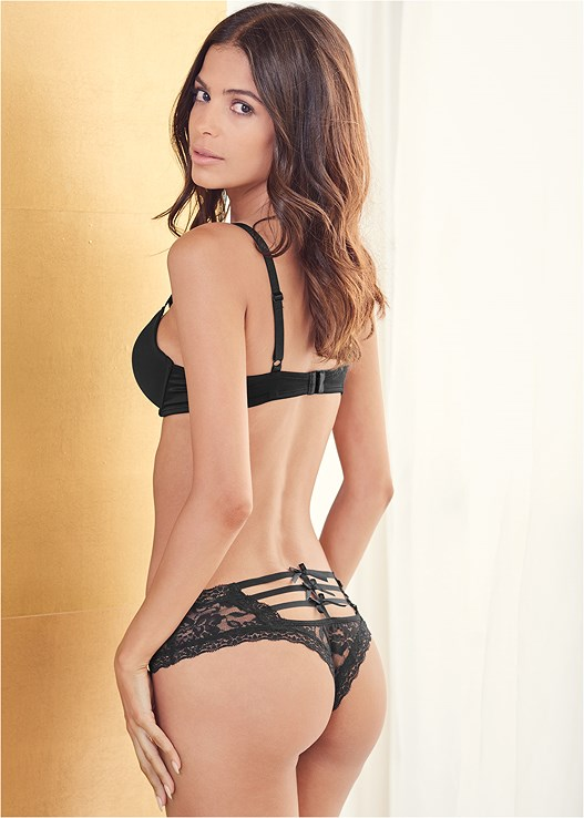 STRAPPY BACK CHEEKY PANTIES,KISSABLE STRAPPY PUSH UP