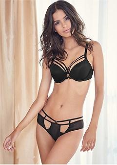 strappy mesh bikini panties