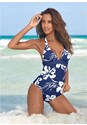 Front View Slimming Halter One-Piece
