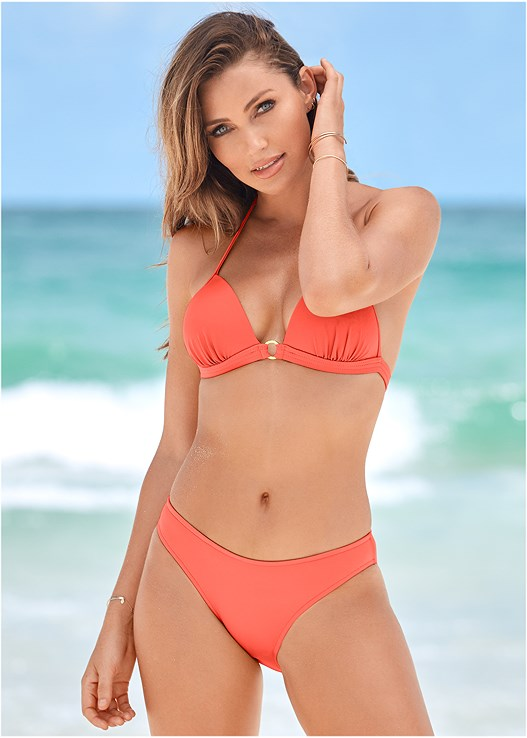 ENHANCER PUSH UP TRIANGLE,SCOOP FRONT BIKINI BOTTOM,LOW RISE BIKINI BOTTOM,STRING SIDE BIKINI BOTTOM,MID RISE STRAPPY BOTTOM,OFF THE SHOULDER COVER-UP