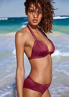 ruched waist bikini bottom