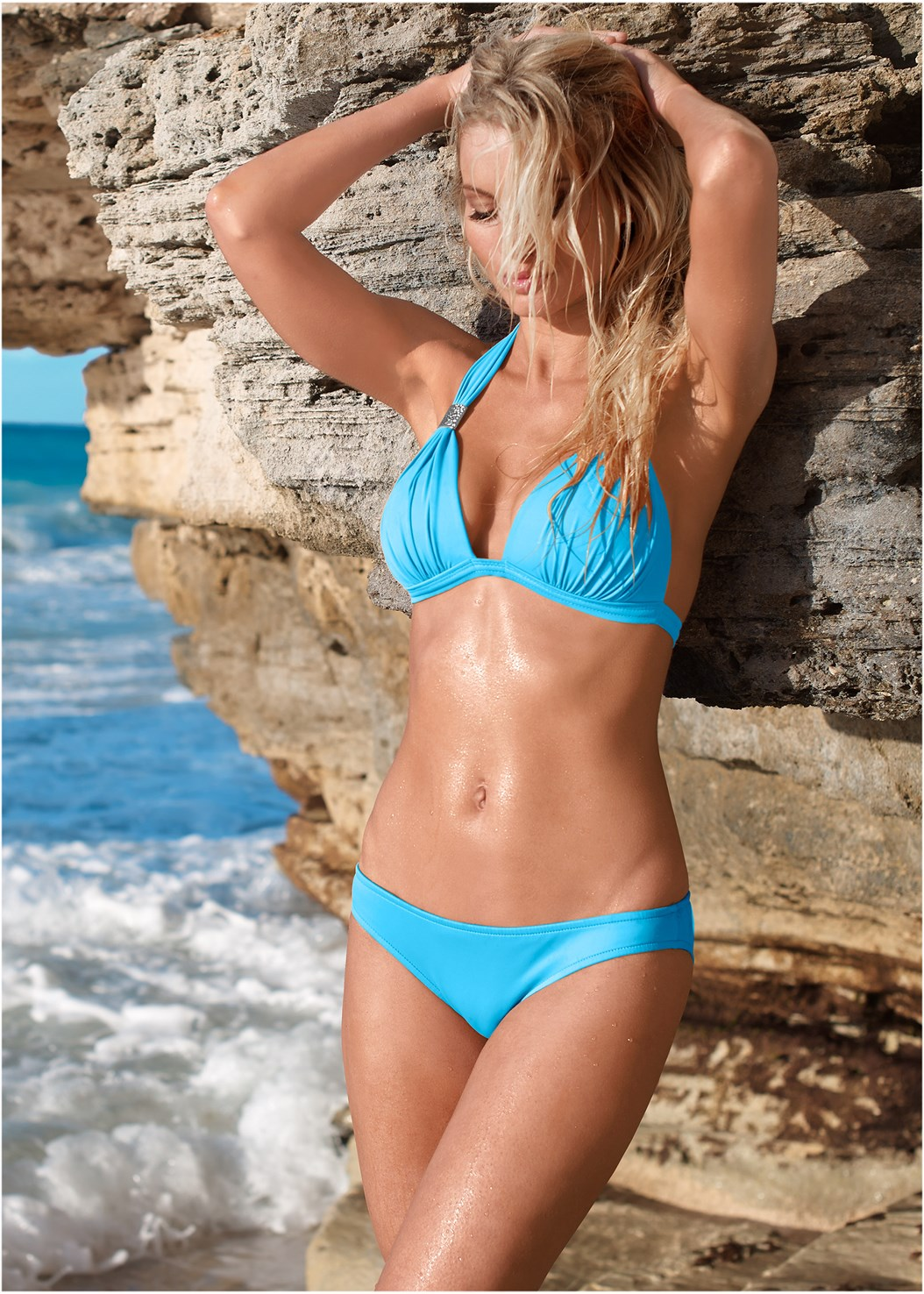 Low Rise Bikini Bottom,Off The Shoulder Cover-Up