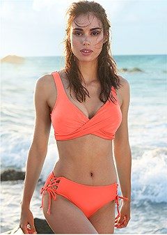 lovely lift wrap bikini top