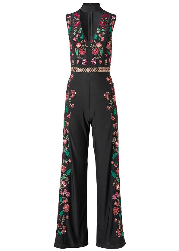 Alternate View Floral Embroidered Jumpsuit