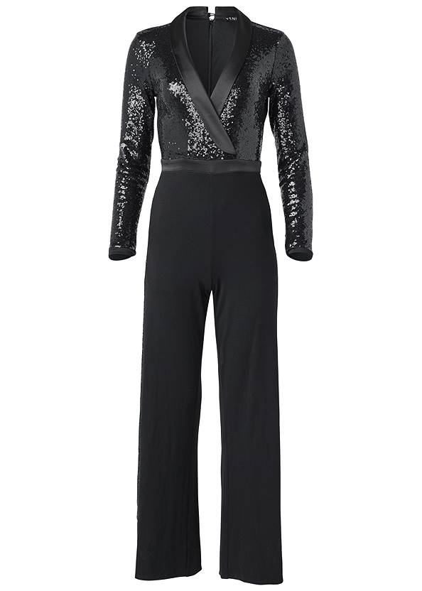 Ghost with background  view Sequin Jumpsuit