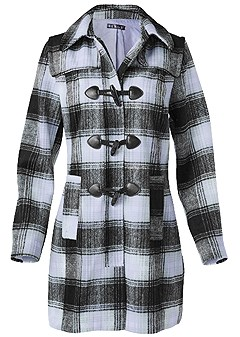 plus size plaid coat