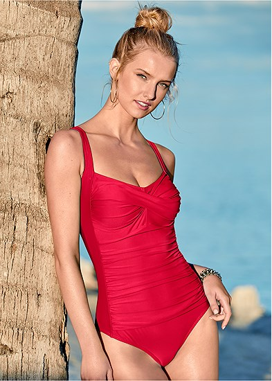 Ruched Bra One-Piece