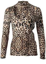 Alternate View Leopard Cut Out Top