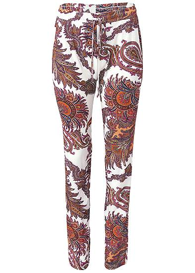 Plus Size Paisley Printed Pants