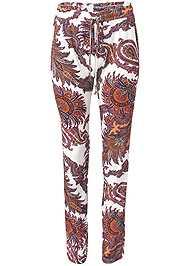 Front View Paisley Printed Pants