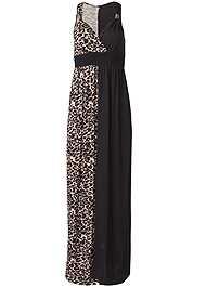 Alternate View Leopard Detail Maxi Dress
