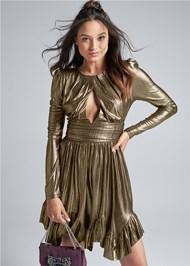 Front View Liquid Metallic Dress