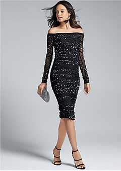 embellished strapless dress