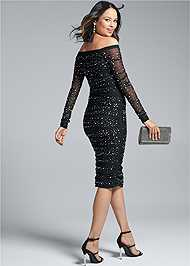 Alternate View Embellished Strapless Dress