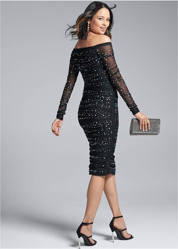 Alternate View Embellished Strapless Dress