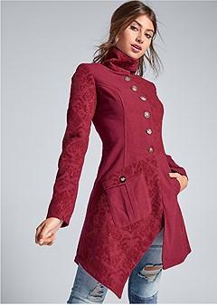 asymmetric hem coat