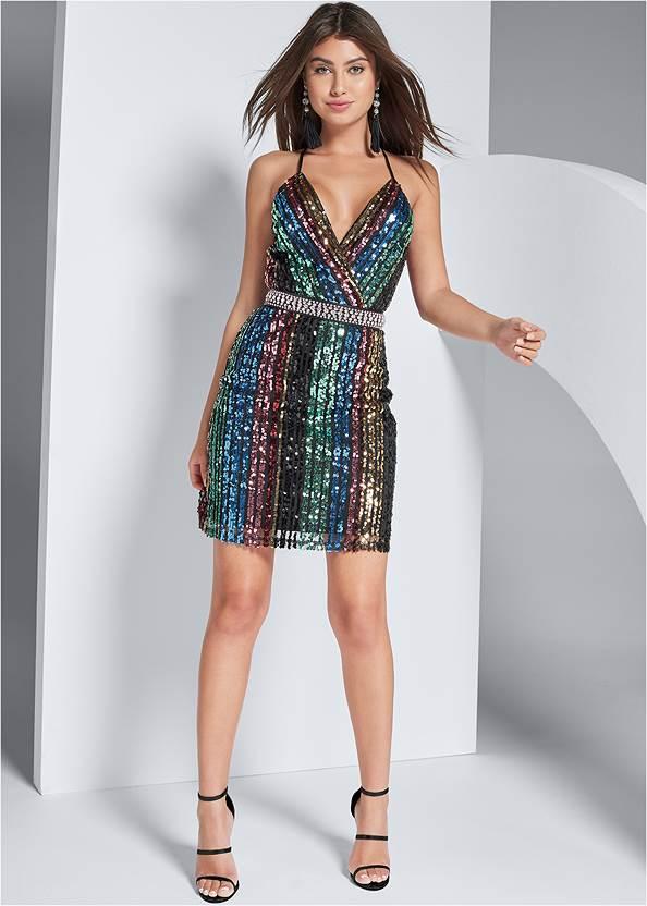Alternate View Sequin Mini Dress