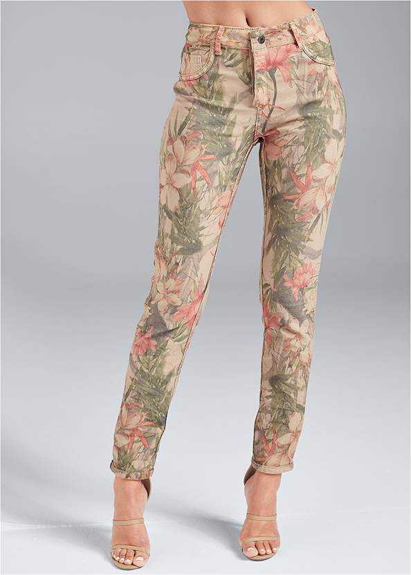 Cropped Front View Reversible Jeans