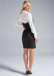 Back View Pinstripe Dress