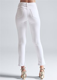 Back View Triangle Hem Jeans