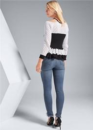 Back View Ruffle Hem Sweater