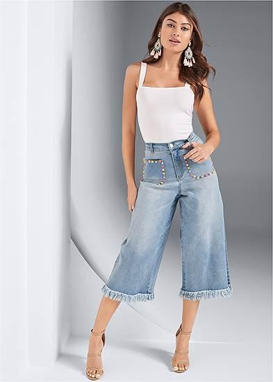 Pocket Detail Jeans