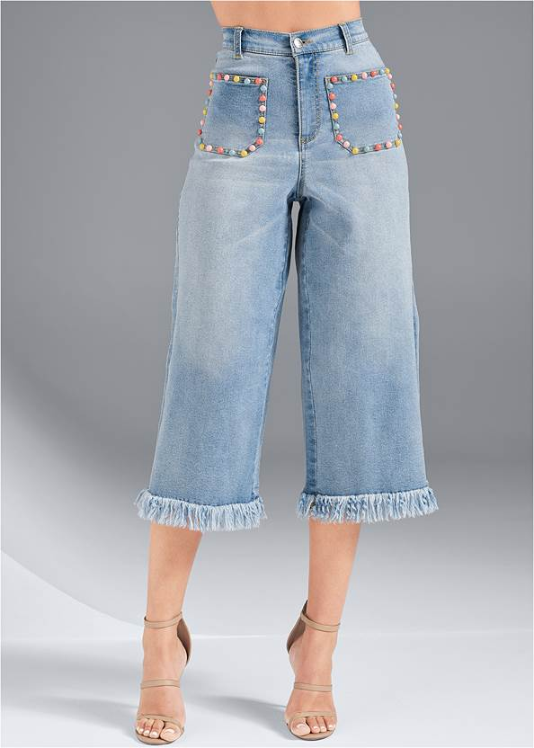 Front View Pocket Detail Jeans