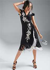 Front View Embroidered Dress