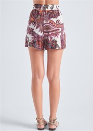 Back View Paisley Shorts