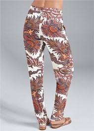 Back View Paisley Printed Pants
