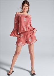 Alternate View Off The Shoulder Romper