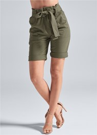 Alternate View Belted Bermuda Shorts
