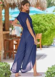 Back View Side Slit Cover-Up Jumpsuit