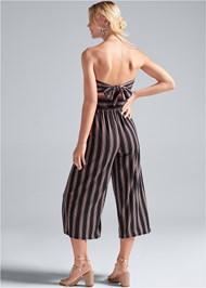 Alternate View Strapless Stripe Jumpsuit